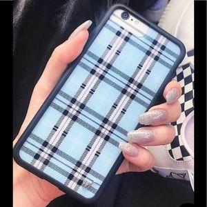Wildflower Blue Plaid iPhone 6+/7+/8+ Plus Case